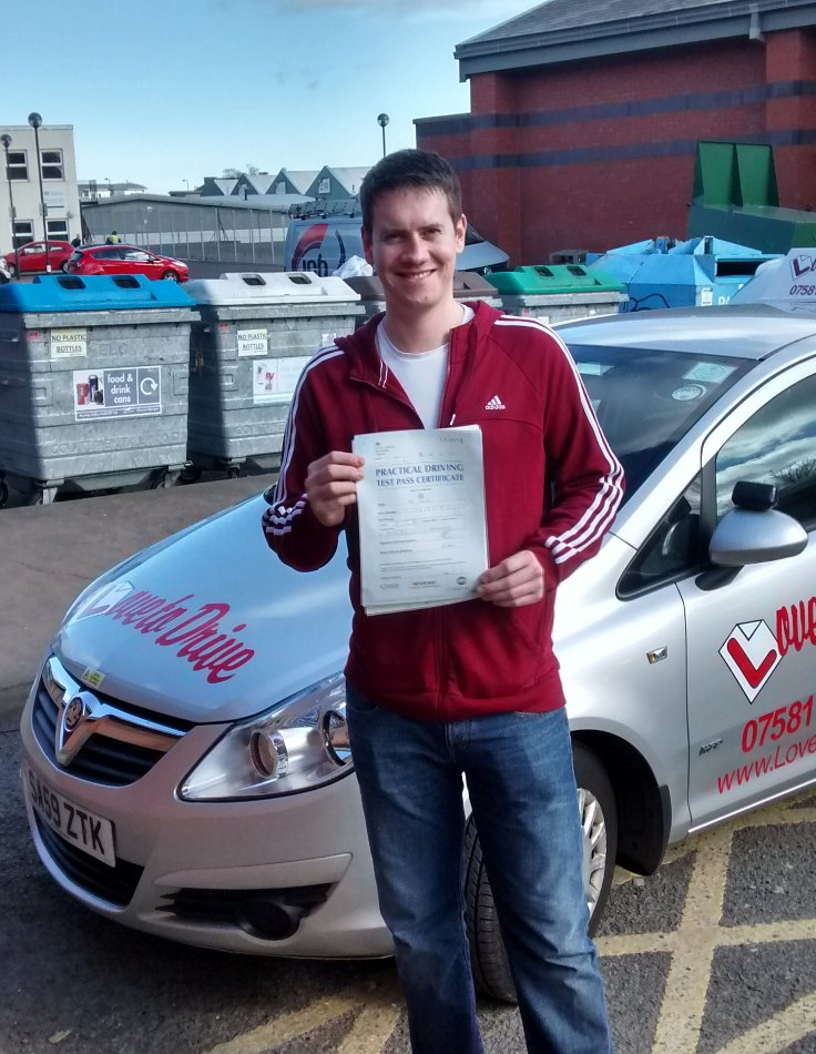 Ian from Newcraighall, enjoyed his driving lessons