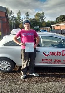 Calum, newly qualified driver