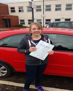 Lucy, newly qualified driver