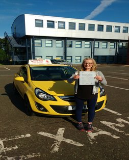 Mia, newly qualified driver